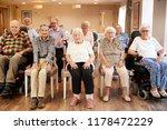 group of seniors enjoying... | Shutterstock . vector #1178472229