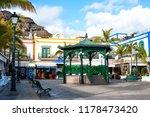 puerto de mogan  gran canaria ... | Shutterstock . vector #1178473420