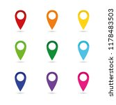 set colorful map pointer... | Shutterstock .eps vector #1178483503