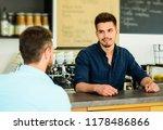 barista at bar of modern cafe... | Shutterstock . vector #1178486866