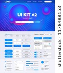ui kit for website | Shutterstock .eps vector #1178488153