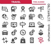 travel icons. professional ... | Shutterstock .eps vector #1178491780