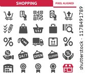 shopping icons. professional ... | Shutterstock .eps vector #1178491789