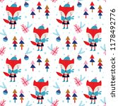 seamless vector pattern with... | Shutterstock .eps vector #1178492776