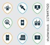telecommunication icons set...   Shutterstock .eps vector #1178497420