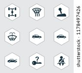 automobile icons set with auto... | Shutterstock .eps vector #1178497426