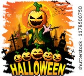 halloween design template with... | Shutterstock .eps vector #1178500750