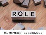 Role Word Written In Wooden Cube