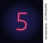 neon number  symbol  sign....   Shutterstock .eps vector #1178510590