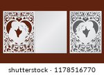 laser cut template of wedding... | Shutterstock .eps vector #1178516770