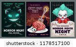 scary banners and posters set.... | Shutterstock .eps vector #1178517100