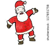 cartoon laughing santa claus | Shutterstock .eps vector #117851758