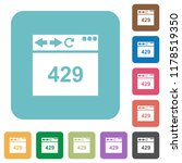 browser 429 too many requests... | Shutterstock .eps vector #1178519350