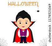 cute child dressed in a vampire ... | Shutterstock .eps vector #1178521069