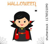 cute child dressed in a vampire ... | Shutterstock .eps vector #1178521090
