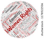 vector conceptual women rights  ... | Shutterstock .eps vector #1178522536