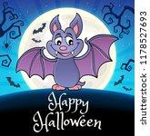 happy halloween composition... | Shutterstock .eps vector #1178527693