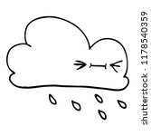 line drawing cartoon expressive ... | Shutterstock . vector #1178540359