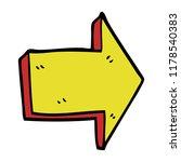 cartoon doodle directing arrow | Shutterstock . vector #1178540383