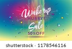 wake up. hurry  there is a sale.... | Shutterstock .eps vector #1178546116