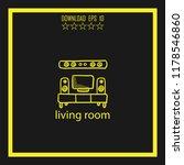 living room sketch vector icon