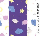 cute seamless pattern with moon ... | Shutterstock .eps vector #1178555203
