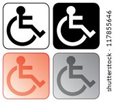 disabled sign set | Shutterstock .eps vector #117855646