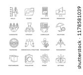 set of 16 simple line icons... | Shutterstock .eps vector #1178581039