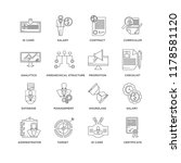set of 16 simple line icons... | Shutterstock .eps vector #1178581120