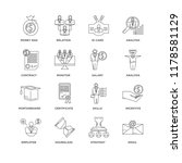 set of 16 simple line icons... | Shutterstock .eps vector #1178581129