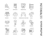 set of 16 simple line icons... | Shutterstock .eps vector #1178581156