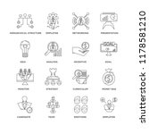 set of 16 simple line icons... | Shutterstock .eps vector #1178581210