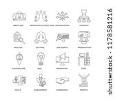 set of 16 simple line icons...   Shutterstock .eps vector #1178581216