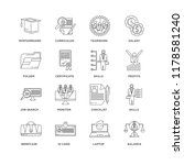 set of 16 simple line icons... | Shutterstock .eps vector #1178581240