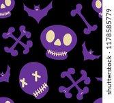 seamless halloween pattern with ... | Shutterstock .eps vector #1178585779