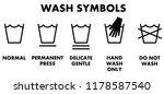 laundry washing symbols  icons... | Shutterstock .eps vector #1178587540