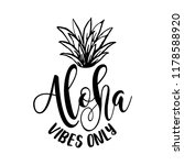 aloha vibes only   funny... | Shutterstock .eps vector #1178588920
