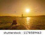 maiden's tower in istanbul ... | Shutterstock . vector #1178589463