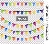 Colored Garlands Background...