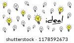 lamp bulb idea business idea... | Shutterstock .eps vector #1178592673