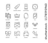 set of 16 simple line icons... | Shutterstock .eps vector #1178593960