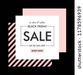 sale sign design in... | Shutterstock .eps vector #1178596939