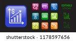 presentation icon set.... | Shutterstock .eps vector #1178597656