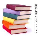 Old Colorful Books Isolated On...