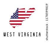 vector map of west virginia... | Shutterstock .eps vector #1178599819