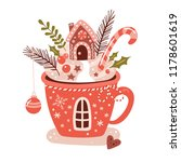 merry christmas concept with... | Shutterstock .eps vector #1178601619