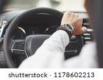 a businessman rides his car ... | Shutterstock . vector #1178602213