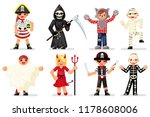 halloween costume children... | Shutterstock .eps vector #1178608006