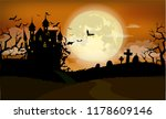halloween background with... | Shutterstock .eps vector #1178609146