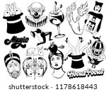 vector set of hand drawn... | Shutterstock .eps vector #1178618443